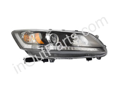 Headlight Right for HONDA ACCORD 2013 2014 2015 2016 Passenger Side - LED stripe