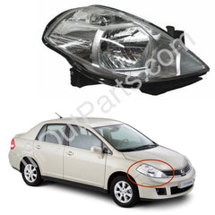 Headlight Right side for NISSAN TIIDA 2004 2005 2006 2007 2008 2009 2010 Passenger Side