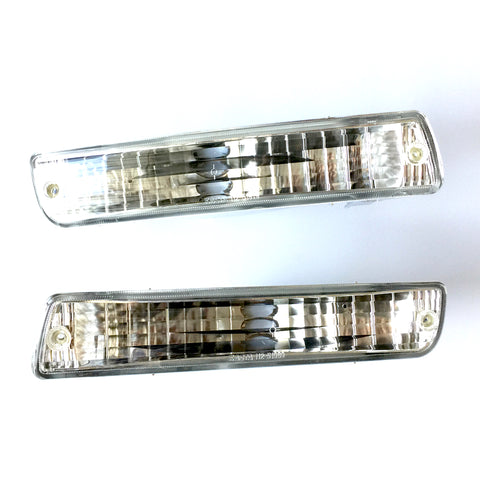 Front Turn Signal Lights for TOYOTA Land Cruiser 80 / LEXUS LX450 1990 1991 1992 1993 1994 1995 1996 1997 1998 Clear Side Marker PAIR