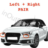 Headlamp Washer nozzle cover PAIR for Audi A1 / S1 2010 2011 2012 2013 2014 2015 Headlight washer for paint
