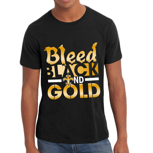 Bleed Black and Gold Tee Shirts