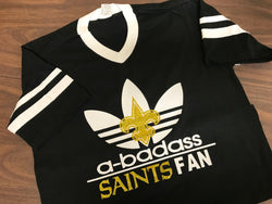 A-badass Saints Fan V-neck Tee