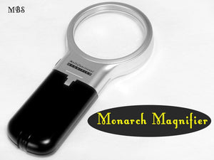 LED Magnifier with Adustable Handle for a closer look at monarch eggs and baby caterpillars.