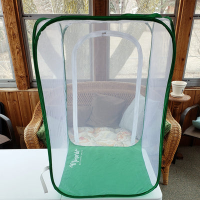 "Monarch TOWER Clear Mesh Caterpillar Cage- Raise Monarchs on Milkweed Plants 24""x24""x36""H"