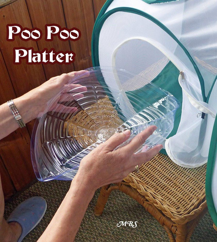 Poo Poo Platter for Easy Cage Cleaning