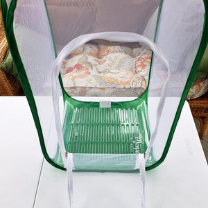 Tall Baby Clear View Cage- add poo poo platter fitted cage insert for easy cage cleaning