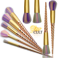Golden Unicorn Makeup Brush Set - glowcultcosmetics
