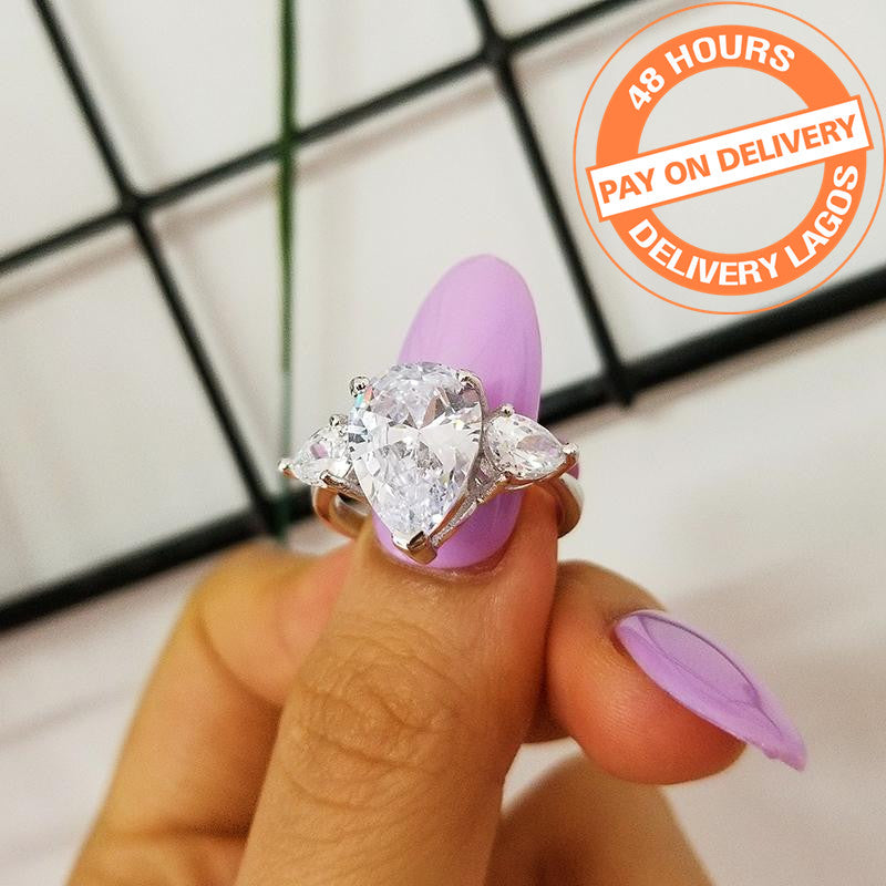 925 Sterling Silver Ring For Women Luxury Wedding Engagement Jewelry R1904S