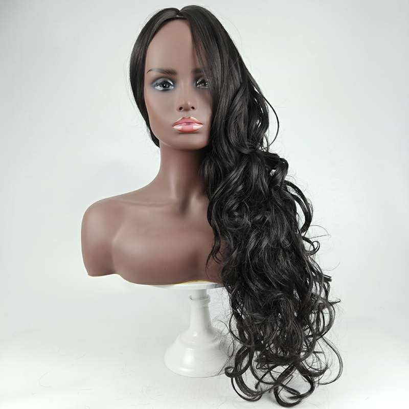 synthetic Fashion wigs, ladies' long curly headsets p6133