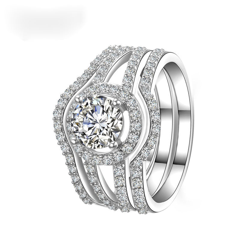 R235CS -  TWLLE Jewelry-- Affordable Brand for Sterling Silver Jewelry - Affordable Sterling Silver Wedding Engagement Ring in Nigeria