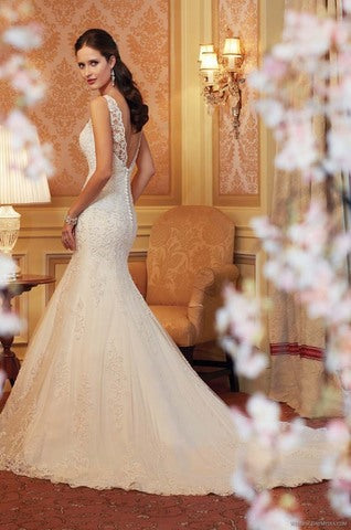 lace fish tail bride big size wedding dress