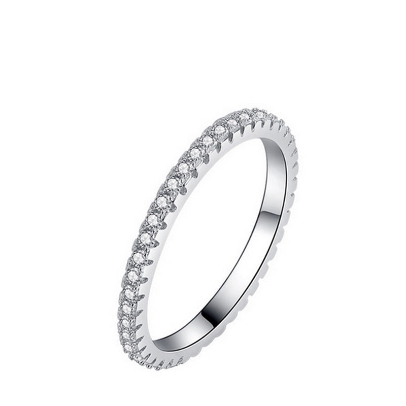 2017 fashion Silver Band Ring Wedding Engagement Finger Men and women couples tail Ring Band wholesale R1090A - TWLLE Jewelry