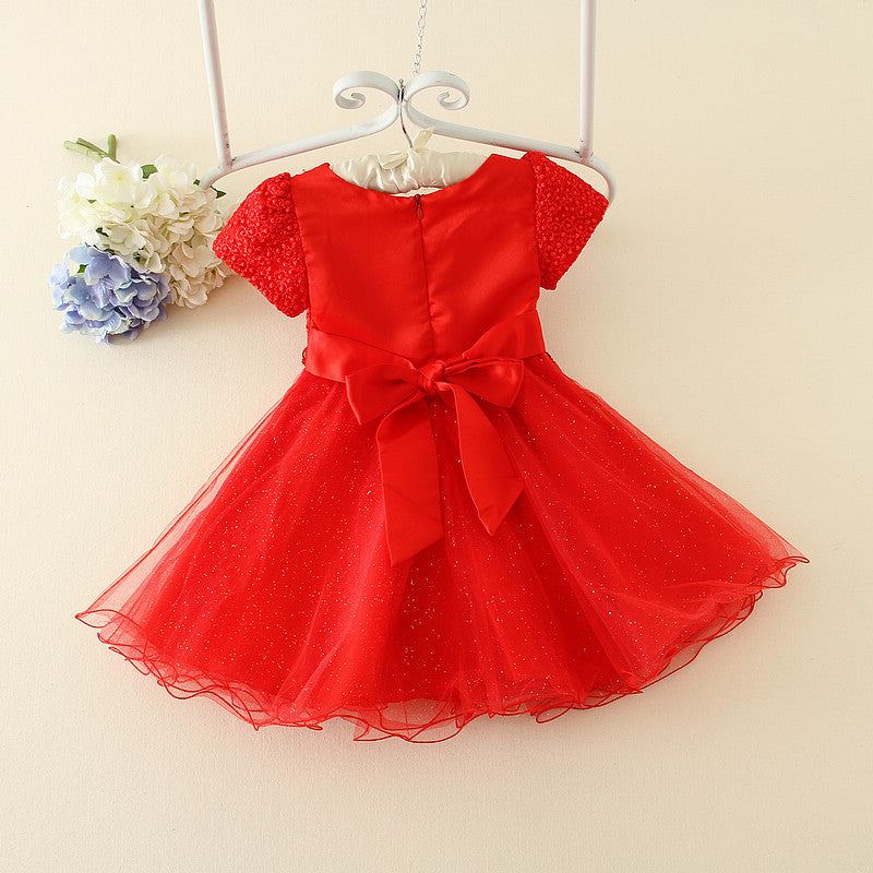 Girls'Wedding Dresses Korean Flower Lace Dresses p0030