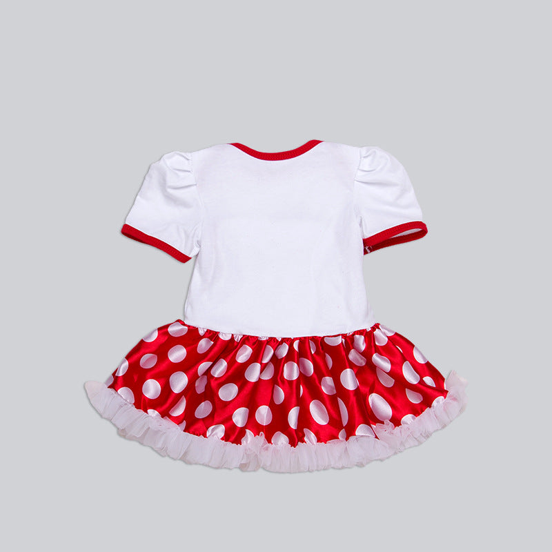 New spring clothes 2018 baby clothes, baby girls'cotton short sleeve hatchwear skirts, crawling clothe p0038
