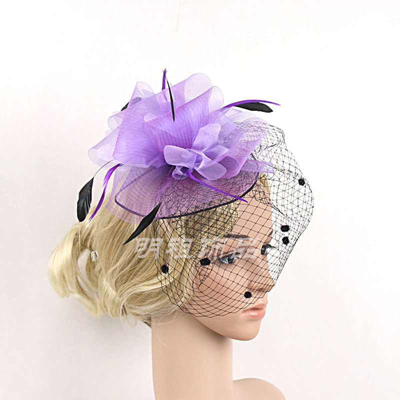 New mesh Bride Headwear Hairpin p3015