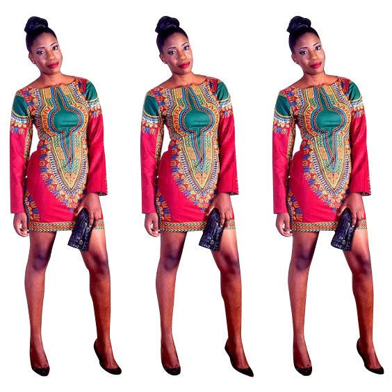 Printed sexy digital positioning print dress P4046Buy mate