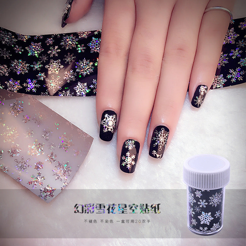 Starry sky paste reprint logo color color snowflake nail paste p3997Buy mate