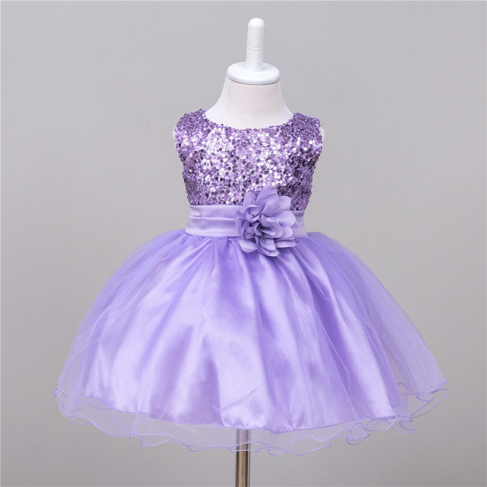 Children's Skirts and Children's Performing Dresses Top Sequins Pure