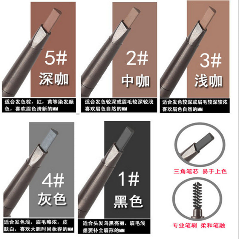 Raw material cartridge five-color double eyebrow pencil brush rotating the triangle core p6032Buy mate