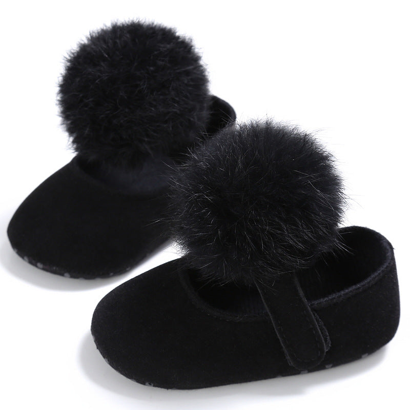 Cotton ball Princess shoes, cotton ball toddlers, cotton ball baby shoes p0003Black / 13Buy mate