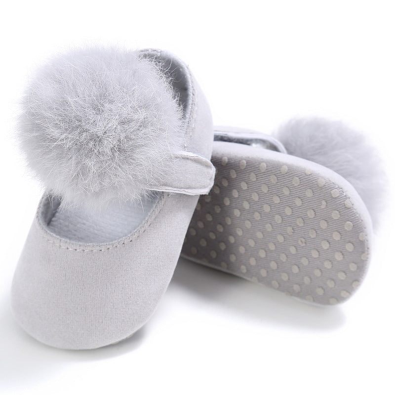 Cotton ball Princess shoes, cotton ball toddlers, cotton ball baby shoes p0003gray / 13Buy mate