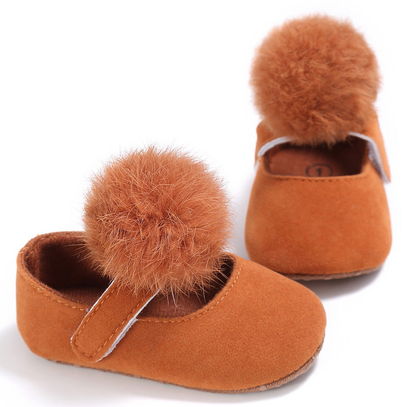 Cotton ball Princess shoes, cotton ball toddlers, cotton ball baby shoes p0003Brown / 13Buy mate
