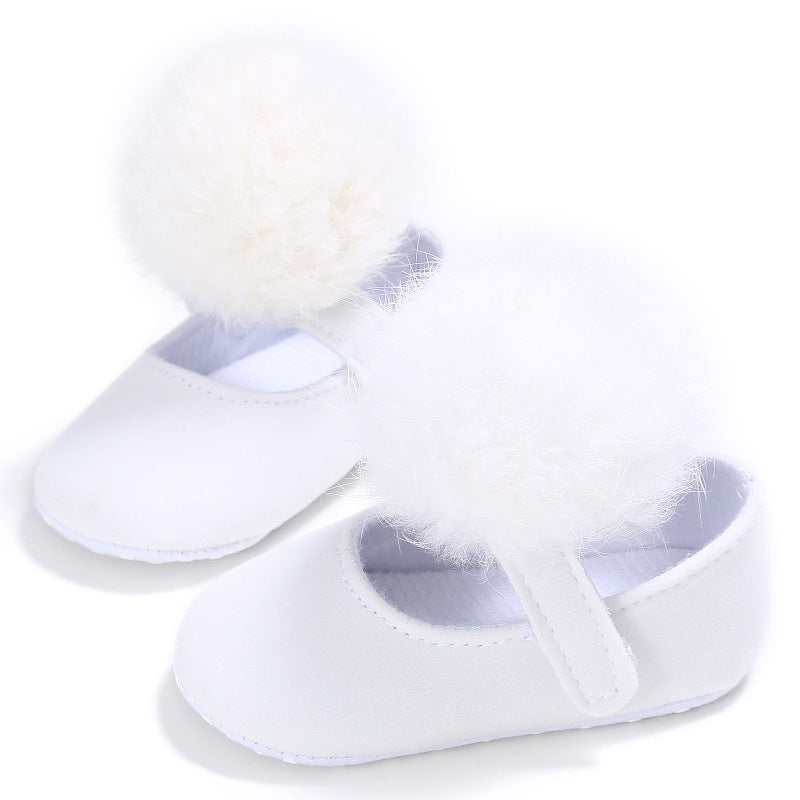 Cotton ball Princess shoes, cotton ball toddlers, cotton ball baby shoes p0003White / 13Buy mate