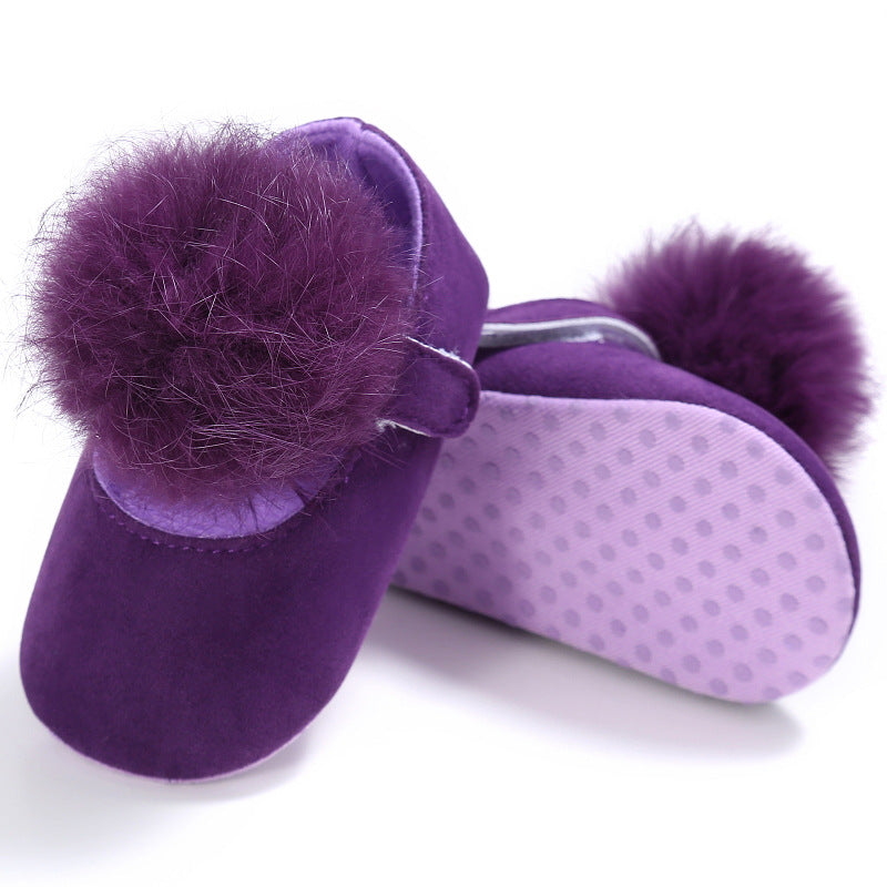 Cotton ball Princess shoes, cotton ball toddlers, cotton ball baby shoes p0003purple / 13Buy mate