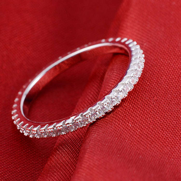 R1090AS -  TWLLE Jewelry - Affordable Sterling Silver Wedding Engagement Ring in Nigeria