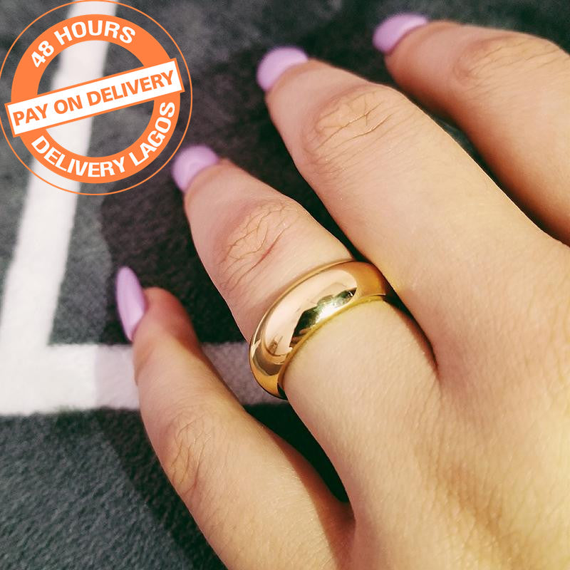 stainless steel titanium silver gold color men ring band eternity male for engagement wedding africa nigeria jewelry R4621SBuy mate