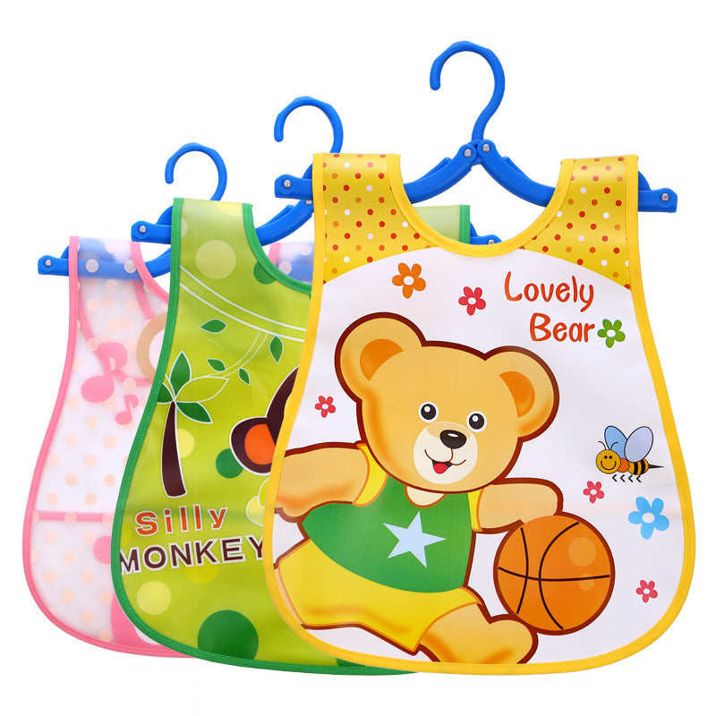 Thickened children's rice bag cartoon environmental printing baby rice bag children's waterproof bib smock large p2942