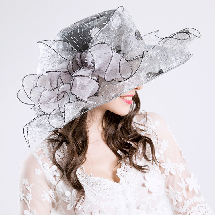 2019 New Ultraviolet-proof Fashion Cap  Embroidered Bird Nest Fashion