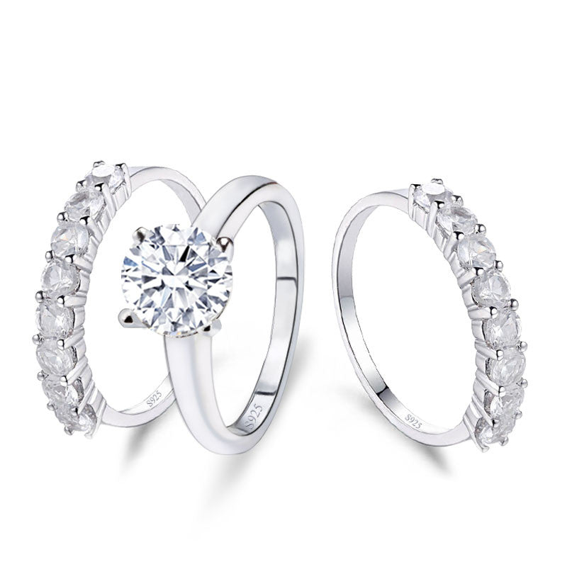 R4324S -  TWLLE Jewelry - Affordable Sterling Silver Wedding Engagement Ring in Nigeria