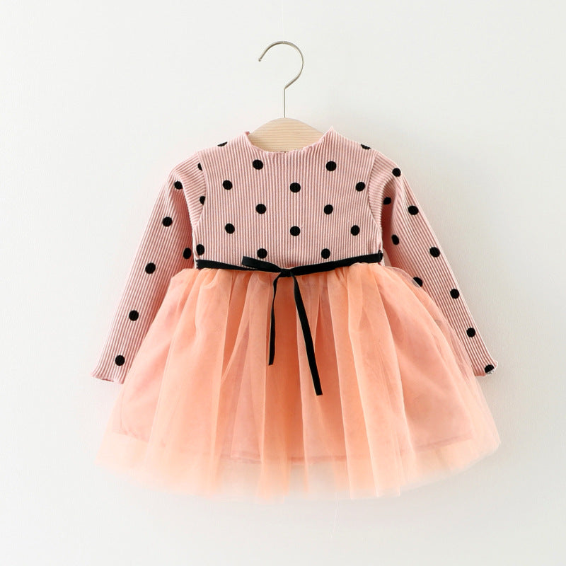 Children's Dresses Wholesale Autumn New Spot Split Yarn