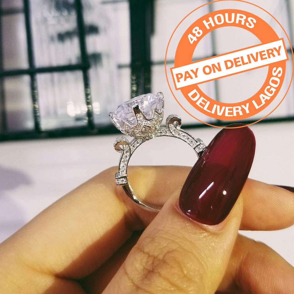 925 Sterling Silver Big Rings For Women Wedding Engagement R1805SBuy mate