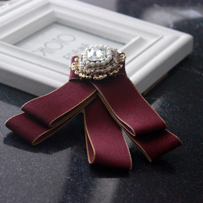 Korean fashion personality men and women's wear collar accessories bow tie tie lead brooch brooch p0026