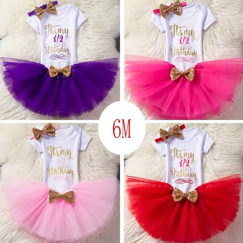 New Girls'Birthday Dresses from Half to Two Years Old