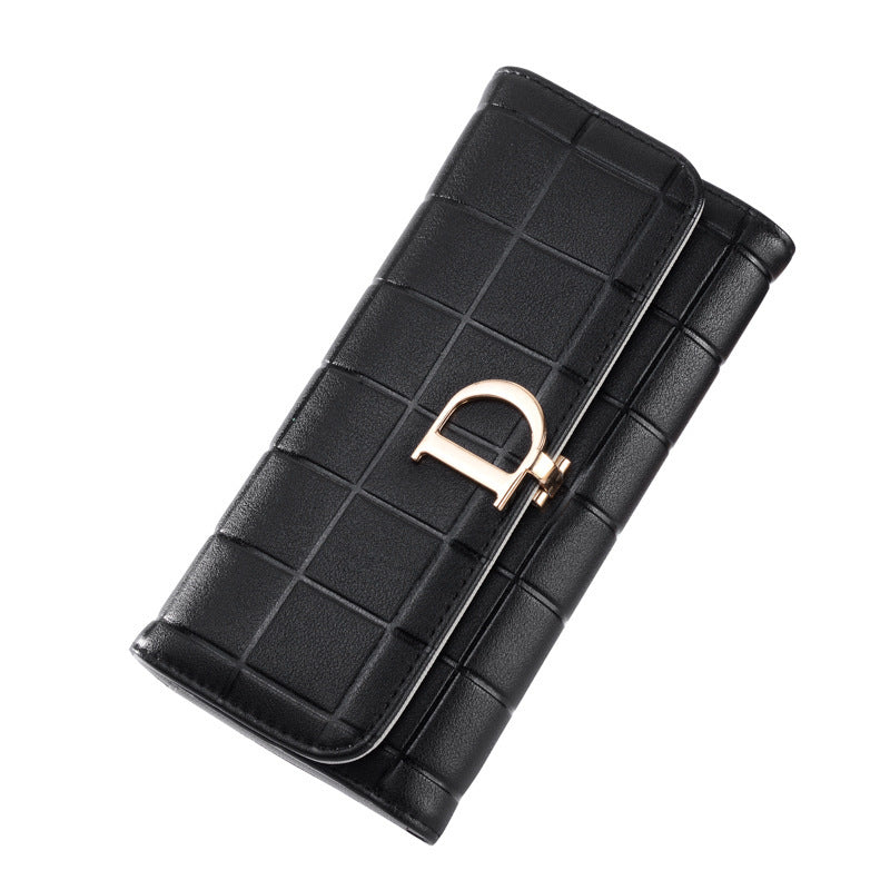 European and American 2019 New Large-Brand Wallet Ladies Long D-Button