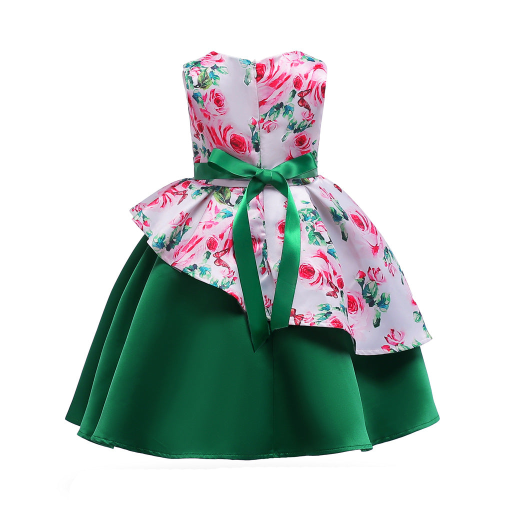 Children's clothing printing girls dress skirt Direct selling