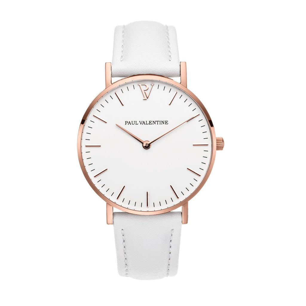 Fashionable ladies watch PV fashionable stainless steel with rose gold quartz watch 783B belt P6055