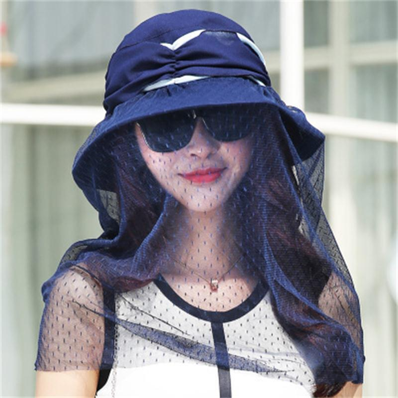 Sunscreen folding veil visor hood field play anti-mosquito