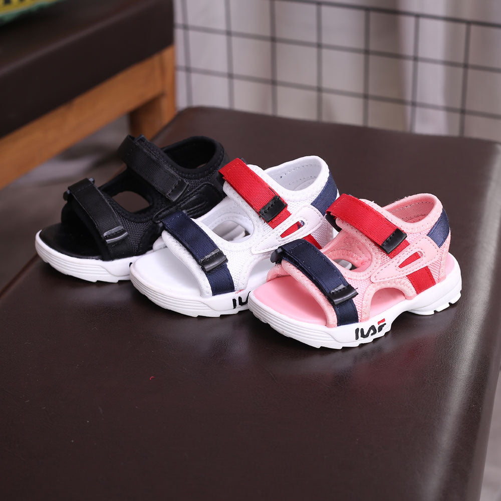 Baby sandals 2018 Summer new 1-3 year old boys beach shoes girls magic paste leisure sandals wholesale p0001Buy mate