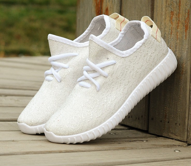 Women's shoes, coconut shoes, casual breathable flat-soled sneakers p4128White / 40Buy mate