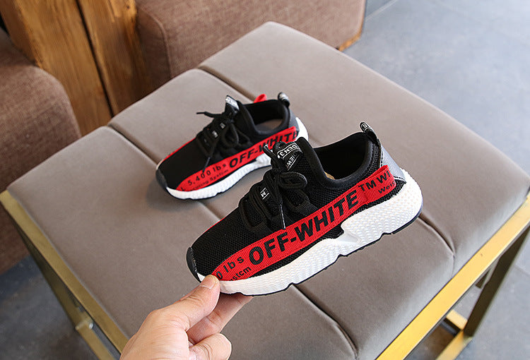 Children's Breathable Screen Shoes 2018 Summer New Girl's Screen Sports Shoes Tide of Boys'Soft-soled Running Shoes p0002