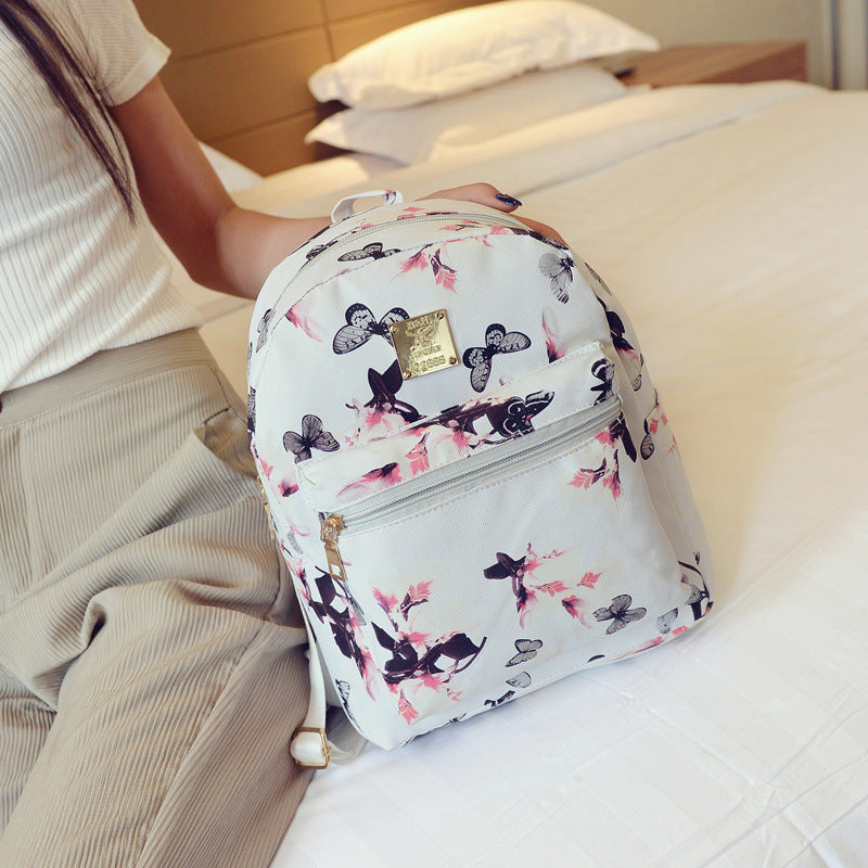 New ladies backpack bag daffodils mini small backpack Korean leisure Joker shoulder bag p2929