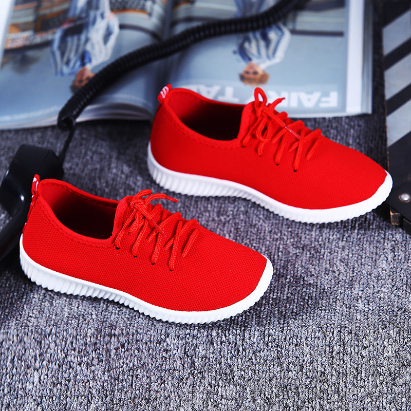 Cloth Shoes mesh surface breathable mesh shoes soft bottom anti-skid small black shoes p4106