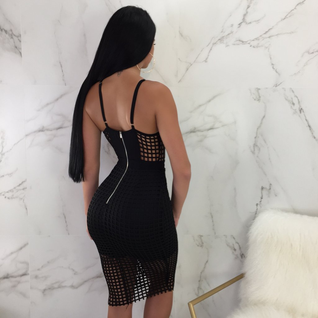 Sexy V-necked mesh dress p4089Buy mate