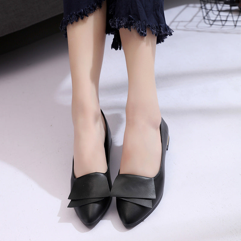 Women's shoes high heels fashion Joker shoes pointed shallow mouth women's shoes p4074Buy mate