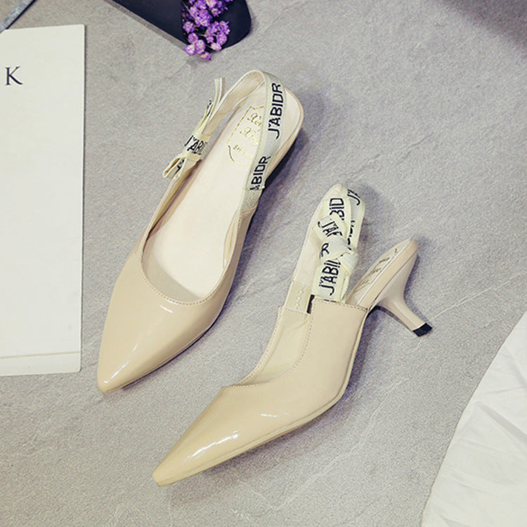 Summer 2018 new Sandals Heels women's sandals pointed casual shoes p0027