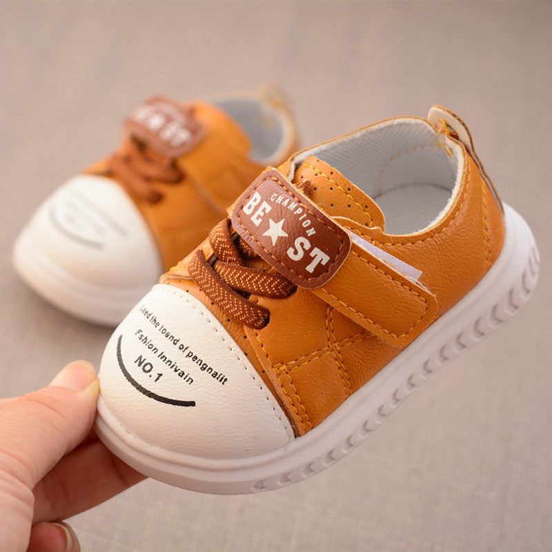 Autumn new PU toddler shoes baby soft bottom casual shoes 0 - 1 year old baby shoes p5097
